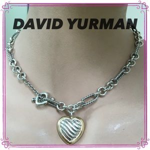 🔴Authentic David Yurman Toggle Heart Necklace💗